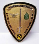 4th Brigade Presented For Excellence Long Knife Challenge Coin