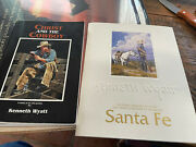 """Kenneth Wyatt """"christ And The Cowboy"""", """"santa Fe Pictures I Wanted To Paint"""" Ex"""