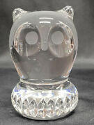 Spode West Germany Full Lead Crystal Owl Figurine Paperweight