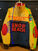 New Snow Beach Polo Pullover Jacket Men Large100 Authentic