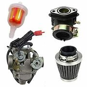 Chanoc Pd24j Carburetor With Air Filter Intake Manifold For Gy6 125cc150cc Atv Q
