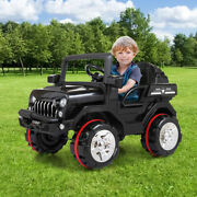 New 12v Kids Ride On Toy Electric Battery Powered Off-road Truck W/ Led Lights