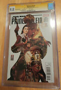 Princess Leia 1 Cgc 9.8 Wp Sig Series Signed By Carrie Fisher And Brooks Variant