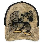 Walt Disney World Mickey Mouse Steamboat Willie Baseball Cap For Adults