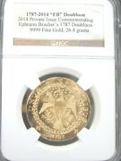 1787-2014 Eb Brasher's Doubloon .9999 Fine Gold Ngc V01