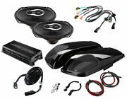 Sx690neo Speakers + Vivid Black Replacement Lid W/ Hmp4d Amp For Harley