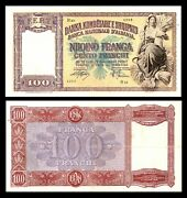 Albania 1939 20 Franga Italy And Germany Occupation Vf Large Size Note