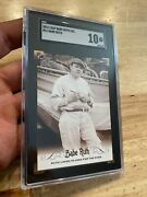 Babe Ruth Sgc 10 Leaf Card Great Bambino New York Yankees Collector 2016 Gift