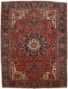 Vintage Thick Pile Farmhouse Decor 10x13 Hand Knotted Wool Oriental Rug Carpet