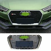 Fit For Abs Black Audi A4 B9 2017-2019 Front Upper Bumper Mesh Grill Grille 1x
