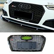 Fit For Audi A4 B9 2020-2021 Abs Black Front Upper Bumper Mesh Grill Grille 1pcs