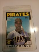 1986 Topps Traded Barry Bonds Pittsburgh Pirates 11t Baseball Card