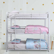 Modern Adult Teen Space Saver Triple Bunk Bed Twin And Full Size Heavy Duty Metal