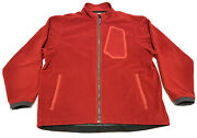 Simms Fishing Gore Windstopper Soft Shell Mens Xl Red Full Zip Jacket