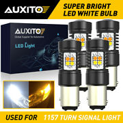 Auxito 4x 1157 Led Front Turn Signal Lights Bulb Switchback Canbus Bright Exc