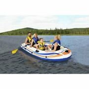 Pathfinder 4 Person Inflatable Raft/boat With Pump And Oars