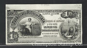 Paraguay Proof Banknote Face/back Catalog S161