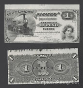 Paraguay Proof Banknote Face/back Catalog S145