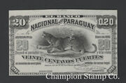 Paraguay Proof Banknote Catalog S143