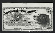 Paraguay Proof Banknote Catalog S141