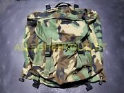 Us Military Army Combat Patrol Pack Backpack Woodland Camo 8465-01-287-8128 Mint