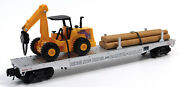 Used K-line By Lionel 6-21240 Ringling Bros. Flatcar W/ Front End Loader And Te...