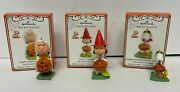 3 Peanuts Hallmark Halloween Ornaments Lucy Snoopy Flying Ace Charlie Brown 2012