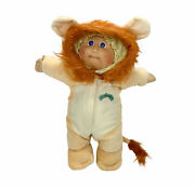 Vtg Cabbage Patch Kid Lion Costume Doll 1978-82 Blonde Hair Blue Eyes 80s Toys
