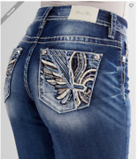 New Miss Me Curvy Ankle Skinny Women's Jeans Size 30