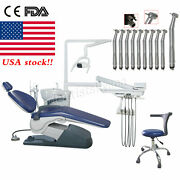 Dental Unit Chair Hard Leather Computer Controlled Dc Motor +10 High Handpiece