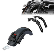 Rear Fender Led Smoked Lens + Support Fit For Harley Road Street Glide 14-21 17