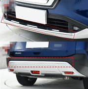 Abs Chrome Front+rear Lower Bumper Molding Cove Trim For Nissan Rogue 2021-2022
