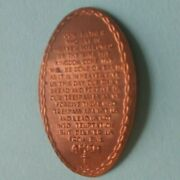 Our Father Who Art Lordand039s Prayer Rope Border Cross Bottom Elongated Copper Penny
