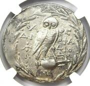 Ngc Ancient Greek Athena And Owl Vf Silver Coin Bc Antique Coin