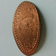 Merry Christmas And Happy New Year Santaand039s Face Elongated 1956 Copper Penny