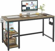 55 Industrial Computer Desk For Home Office Wood Study Writing Desk