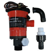 1000 Gph Boat Twin Port Livewell Aerating Pump Bait Aerator Boats Live Well 12v