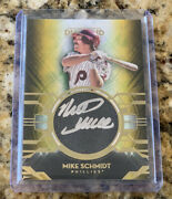 2021 Diamond Icons Mike Schmidt 1/1 Gold Silver Ink Auto Phillies