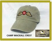 Special Forces Operations Green Beret Camp Mackall Vintage Oss Wings Cap Hat