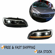 For 2012-2015 Volkswagen Passat Headlight Assembly Led Drl Projector Headlamps