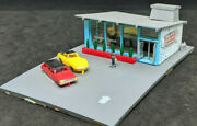 Bachmann N Scale Train Building Drive-in Hamburger Stand 1209. Vintage Building