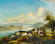 High Quality Oil Painting Handpainted On Canvas View Of Budapest