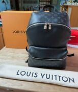 Authentic Louis Vuitton Discovery Backpack Monogram Canvas And Taiga Leather Black