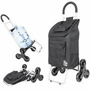 Dbest Products Stair Climber Trolley Dolly Folding Grocery Cart 3 Wheels Heav...