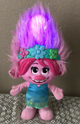Dreamworks Trolls Color Poppin Poppy Doll,sings,hair Lights Up Changes Color-euc