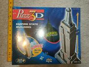 Jigsaw Puzzle 3d Empire State Building Glow In The Dark Made In Usa New Sealed