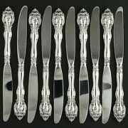 Gorham La Scala 10 Modern Hollow Butter Knives 1964 Silver Stainless 9 1/8
