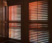 Stained Shutters Custom Size Real Wood 15.99/square Foot