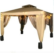 Outdoor Party Canopy Gazebo 10x10ft With Four Sandbags With Netting