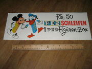 Pez Store Display Sign 1960s Mickey Mouse Donald Duck Diecut,disney Germany